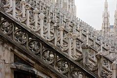 Detalhes da abóbada da catedral de Milão, Italy Fotografia de Stock Royalty Free