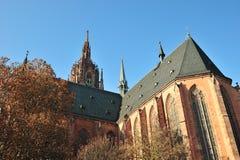 Detalhes da arquitetura da catedral de Francoforte Foto de Stock Royalty Free