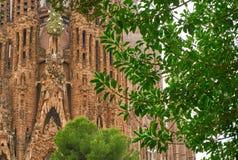 Detalhes da arquitetura de Gaudi da Espanha de Sagrada Familia Barcelona Fotografia de Stock Royalty Free