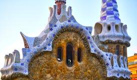 Detalhes da arquitetura de Guell do parque de Gaudi Foto de Stock Royalty Free