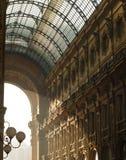 Detalhes da arquitetura de Vittorio Emanuele Gallery fotografia de stock royalty free