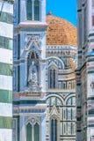 Detalhes da arquitetura do domo em Florença Fotografia de Stock Royalty Free