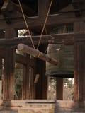 Detalhes da arquitetura do templo de Todai-ji Imagens de Stock