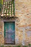 Detalhes da arquitetura e fachadas velhas de Marche Imagem de Stock Royalty Free