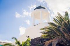 Detalhes da arquitetura em Puerto de la Cruz, Tenerife, Espanha fotos de stock royalty free