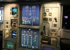 Detalhes da cabina do piloto Fotografia de Stock