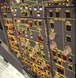 Detalhes da cabina do piloto Fotos de Stock Royalty Free