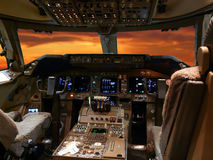 Detalhes da cabina do piloto Fotografia de Stock Royalty Free