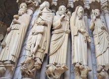 Detalhes da catedral de Chartres França imagem de stock royalty free