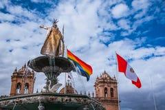 Detalhes da cidade de Peru de Cusco Imagens de Stock