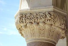 Detalhes da coluna do Corinthian fotografia de stock