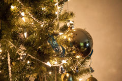 Detalhes da decoração da árvore de Natal Imagem de Stock Royalty Free