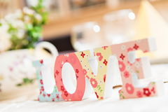 Detalhes da decoração do casamento Imagem de Stock