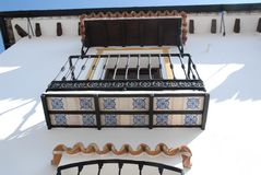 Detalhes da fachada de uma casa no EL Bosque-Grazalema-Benaojan a Andaluzia (Espanha) Imagens de Stock