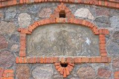 Detalhes da fachada do armazém do beira-rio Fotografia de Stock