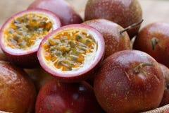 Detalhes da fruta de paixão fotografia de stock royalty free