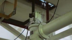 Detalhes da grande instala??o industrial Ideia inferior da instala? filme