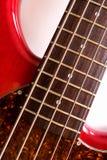 Detalhes da guitarra baixa Fotografia de Stock