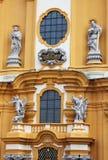 Detalhes da igreja da abadia de Melk na Baixa Áustria Imagens de Stock Royalty Free