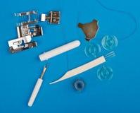 Detalhes da máquina de costura Imagem de Stock Royalty Free