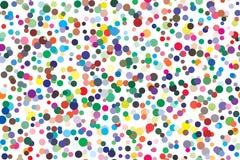 Detalhes da paleta de cores do vetor dispersados caoticamente ilustração stock