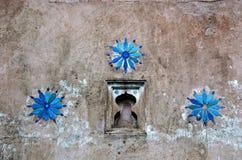 Detalhes da parede de um palácio em India Fotografia de Stock Royalty Free