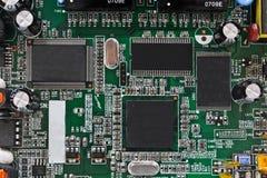Detalhes da placa de circuito impresso Fotos de Stock Royalty Free