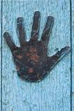 Detalhes da porta com mão Imagens de Stock Royalty Free