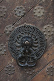 Detalhes da porta da Idade Média Fotografia de Stock Royalty Free