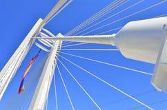 Detalhes da potência de uma ponte de suspensão Imagens de Stock