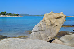 Detalhes da praia de Karidi Foto de Stock Royalty Free