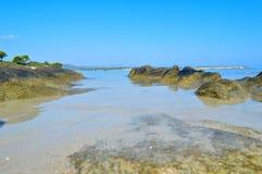 Detalhes da praia de Karidi Foto de Stock
