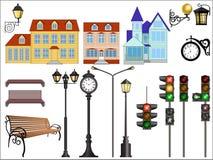 Detalhes da rua da cidade ilustração stock