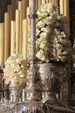 Detalhes da Semana Santa de Malaga fotos de stock