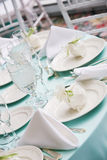 Detalhes da tabela de um casamento Fotografia de Stock