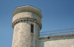 Detalhes da torre de vigia da penitenciária Fotografia de Stock