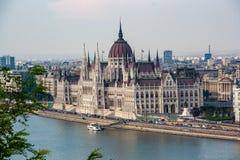 Detalhes da vista de Liberty Bridge-Budapest fotografia de stock royalty free