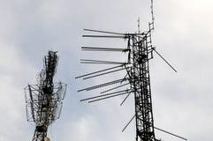 Detalhes das antenas Fotografia de Stock