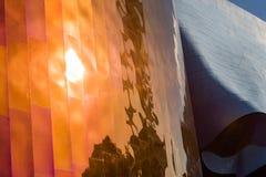Detalhes das paredes coloridas e atraentes do museu do cultura Pop de Seattle, Washington, EUA imagens de stock royalty free