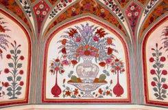 Detalhes das pinturas de um palácio Imagens de Stock Royalty Free