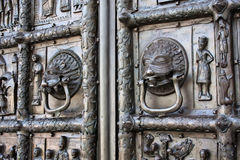 Detalhes das portas de Magdeburg Foto de Stock Royalty Free