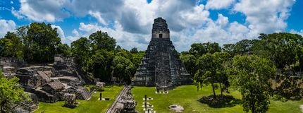 Detalhes das ruínas de Tikal fotos de stock royalty free