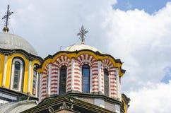 Detalhes de abóbada da igreja em Rila, Bulgária foto de stock