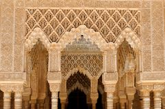 Detalhes de Alhambra fotos de stock royalty free