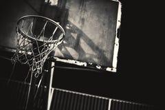 Detalhes de aro de basquetebol Fotografia de Stock Royalty Free