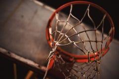 Detalhes de aro de basquetebol Foto de Stock Royalty Free
