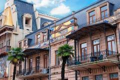 Detalhes de arquitetura bonita 19o da cidade, século XX - construção exterior da fachada de National Bank anterior Fotografia de Stock