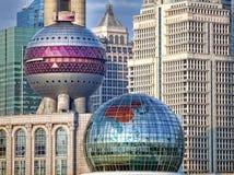 Detalhes de arquitetura moderna de Shanghai fotos de stock