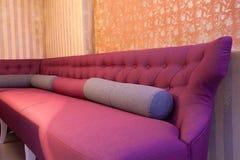 Detalhes de assento no restaurante Imagem de Stock