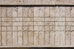 Detalhes de beijo da porta de Constantin Brancusi Foto de Stock Royalty Free